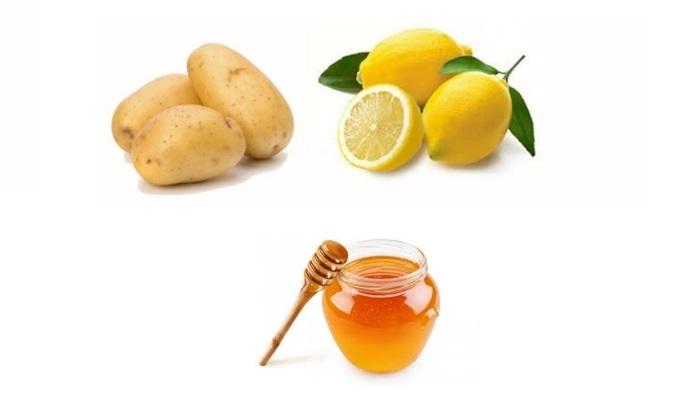 mặt nạ khoai tây mật ong và nước cốt chanh