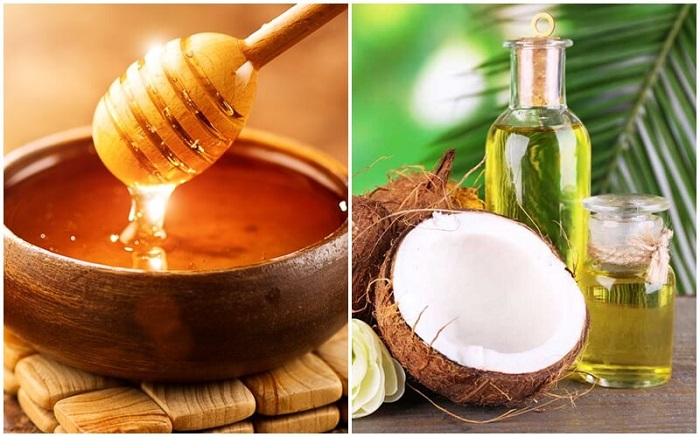 Cách trị thâm môi bằng mật ong và dầu dừa