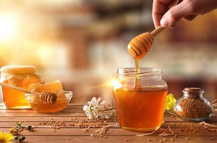trị viêm họng bằng mật ong