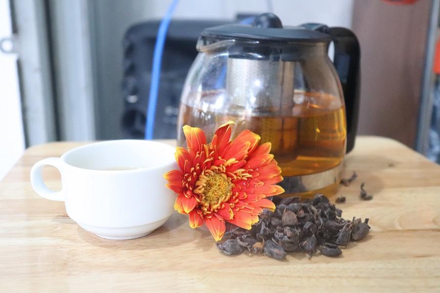 trà cascara mật ong