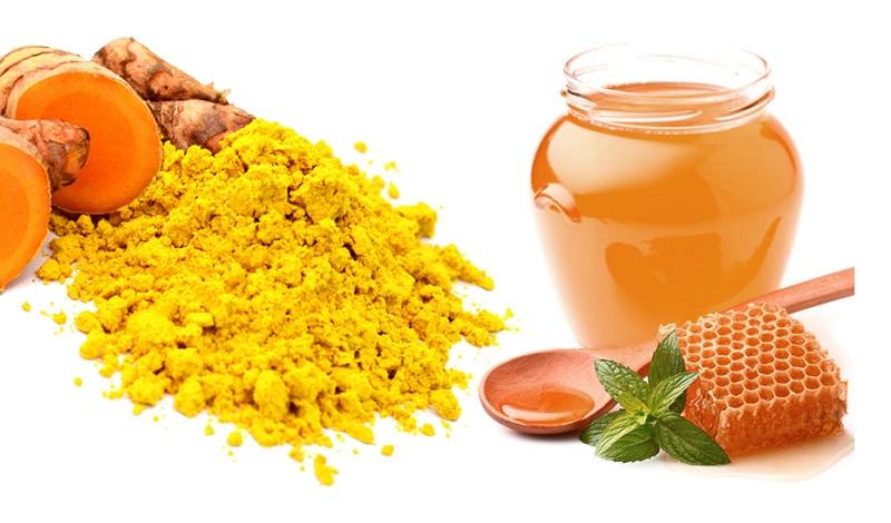 dưỡng ẩm cho da với mật ong và nghệ