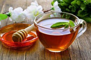 trà lipton mật ong