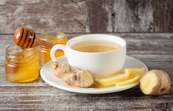 trà lipton mật ong gừng