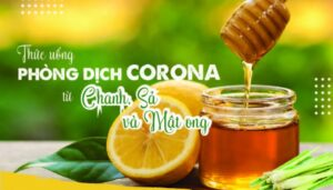 nước chanh sả mật ong