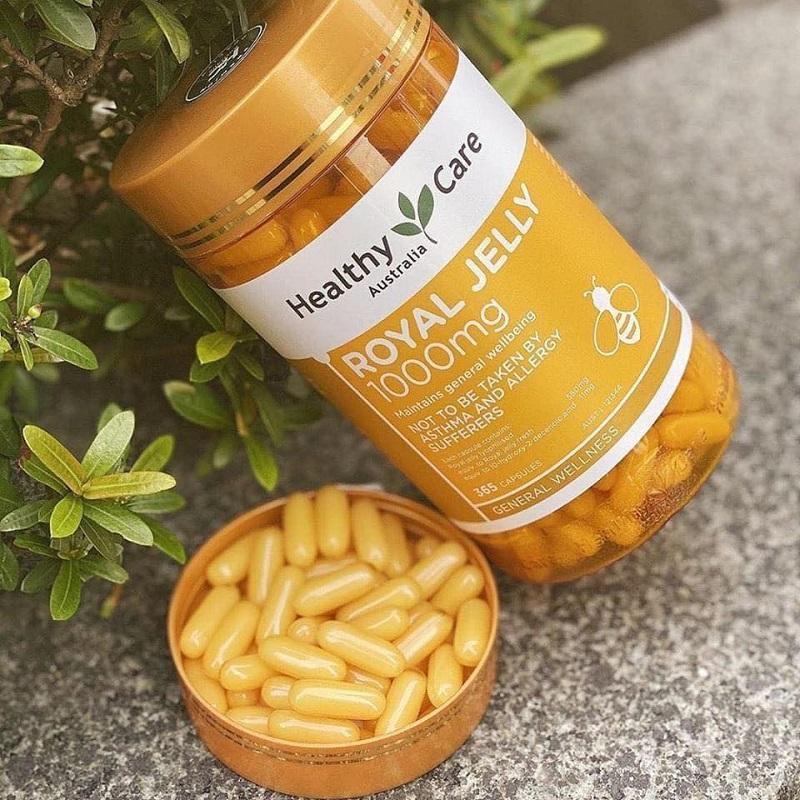 Viên uống sữa ong chúa Úc Healthy Care Royal Jelly 1000mg