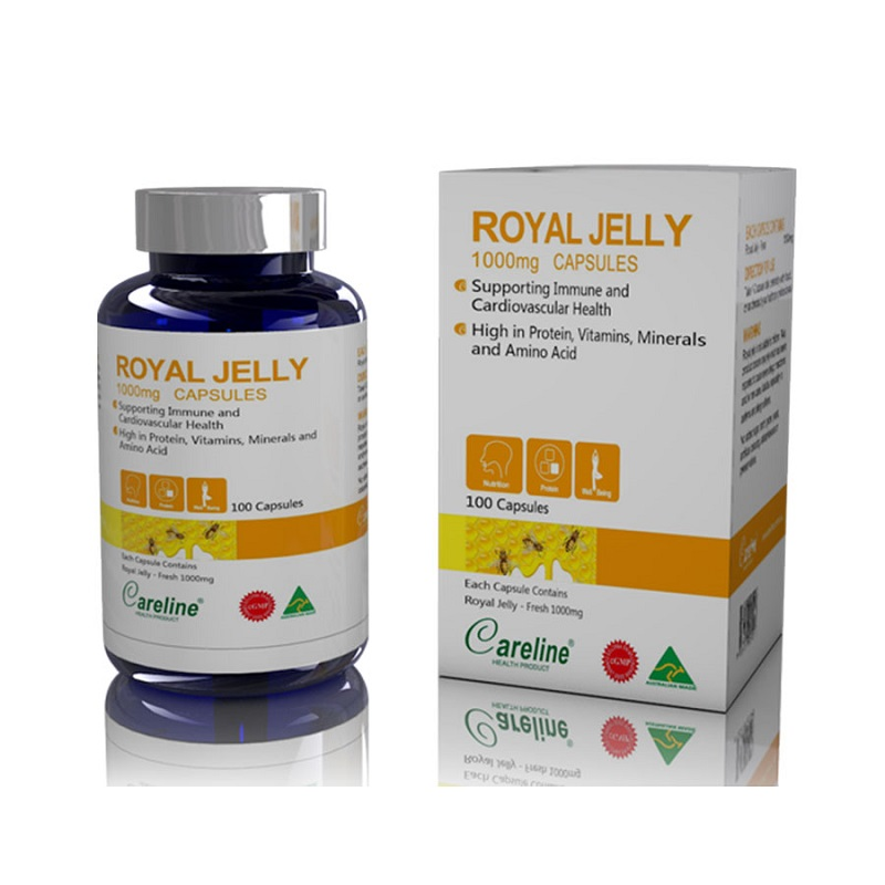 Viên uống sữa ong chúa Royal Jelly Careline 1000mg